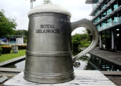 World's biggest tankard at Royal Selangor, KL