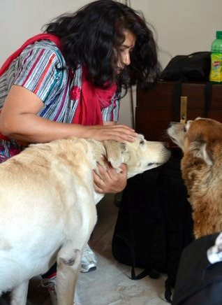 With Gabbar Singh and Miss Mutt