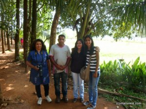 Chandu with us at Banasura Dam park.