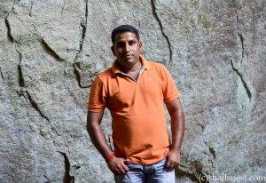 Chandu at Edakkal caves