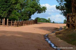 Path inside the Pinnawala Elephant Orphanage