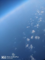 View of the cloud -dotted sky from above