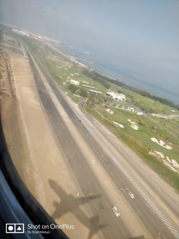 Landing at the sunny city of Muscat